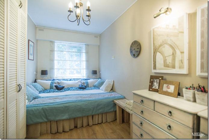 guļamistabas interjers trīsistabu dzīvoklim