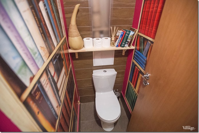 oriģināls tualetes interjers dzivoklī