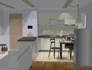 interjera dizains nelielai virtuvei