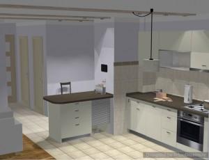 3D virtuves interjers