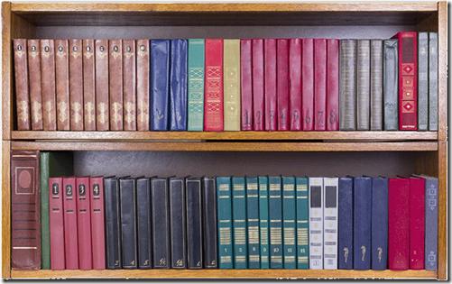 sarindotas grāmatas pēc krāsām
