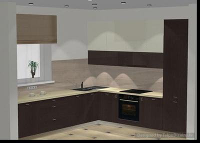 Ietilpīga virtuves iekārta privātmājai Rīgā (1. daļa)