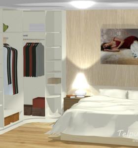3D risinājums guļamistabas skapim