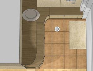 3D vizualizācija koridora iekārtai