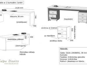 risinājums un tehniskā specifikācija darbistabas galdam