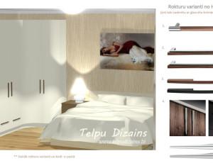 guļamistabs skapja tehniskā specifikācija un furnitūra