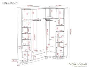 guļamistabs skapja tehniskā specifikācija