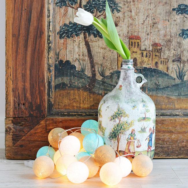 gaismas bumbas interjeram ikdienā un svētkos