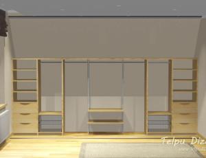 3D mēbeļu risinājums mansarda skapim Siguldā