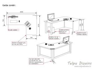 darba galda tehniskā specifikācija