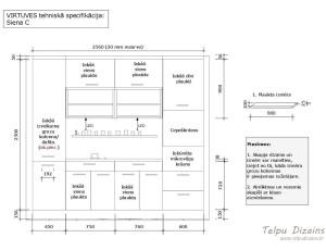 virtuves iekārta un tehniskā specifikācija