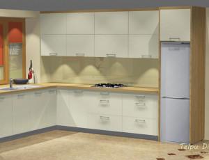 virtuves iekārtas dizains privātmājai Vecumniekos