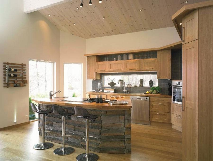 koka virtuves dizains klasiskā un modernā stilā