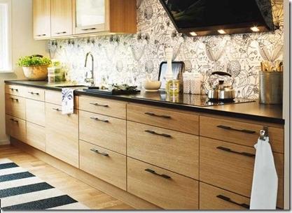 koka virtuves dizains