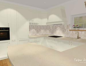 3D risinājums virtuvei klasiskā stilā
