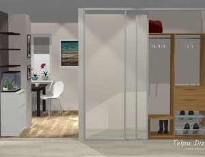 3d interjera dizains koridoram