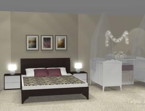 interjera risinājums guļamistabai