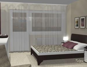 guļamistabas interjers 3d