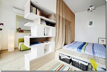 guļamzona vienistabas dzīvoklī